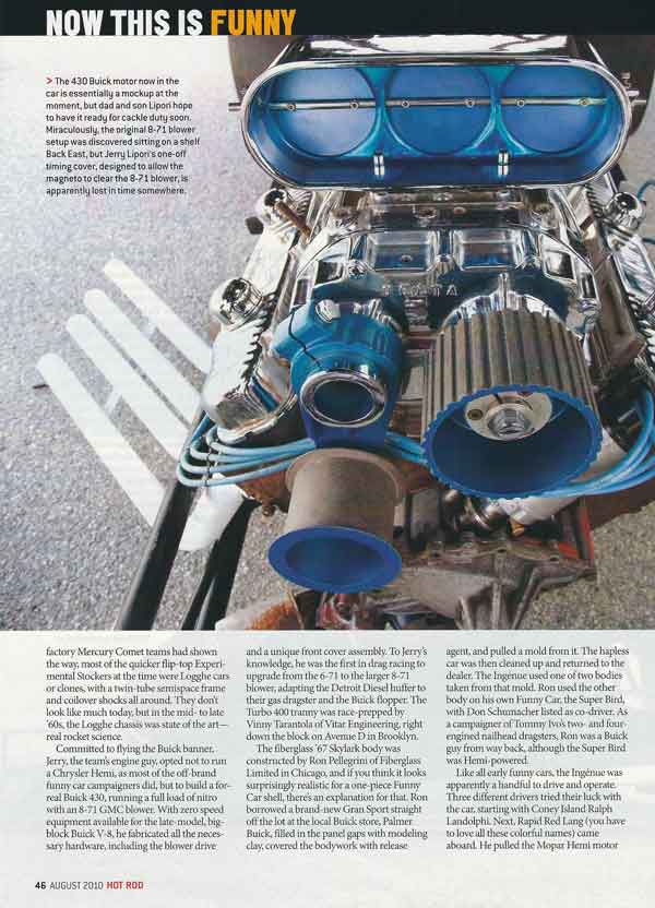 John Lipori Ingenue Buick Funny Car Official Website